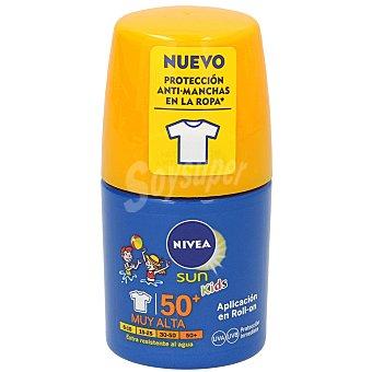 Nivea Protector solar en roll on especial para niños, con factor protección 50+ (muy alta) kids 50 ml