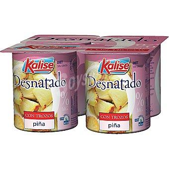 Kalise Yogur desnatado con piña Pack de 4x125 g
