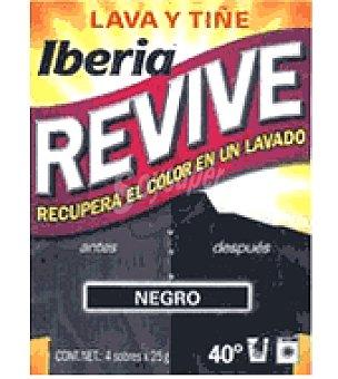 Iberia Lava y Tiñe Negro para recuperar el color de la ropa sobre Pack de 2x20 g