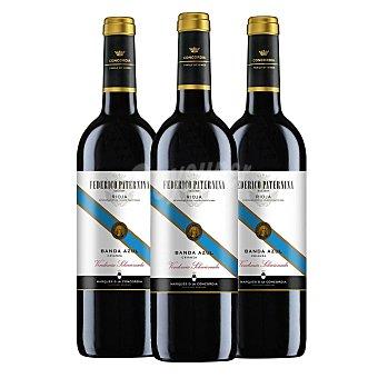 Paternina Vino tinto crianza vendimia seleccionada Banda Azul D.O. Ca. Rioja Pack de 3 botellas de 75 cl