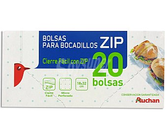 Auchan Bolsas para bocadillo 20 uds