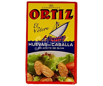 PRODUCTO Huevas de caballa en aceite de oliva ortiz lata de 80 grs Lata de 80 grs