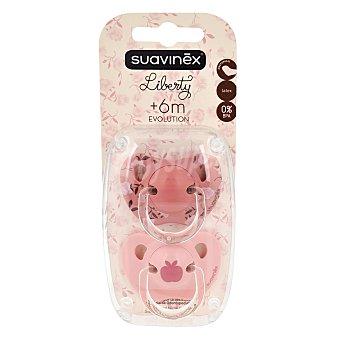Suavinex Chupete rosa anatómico de latex a partir de 6 meses  Blister 2 uds