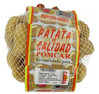 Patata de guarnición Malla de 2 kilos