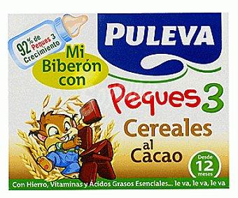 Puleva Peques 3 Leche de Crecimiento con cereales/cacao Pack 3 unidades de 200 Mililitros