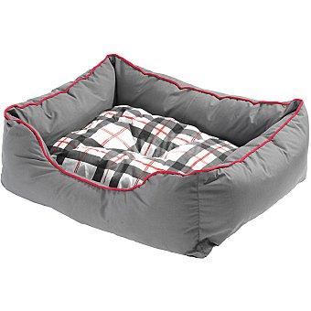 cama para mascotas fabricada en poliéster y algodón color gris medidas 47x37x17 cm 1 unidad