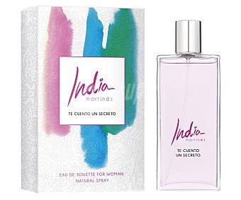 INDIA MARTÍNEZ TE CUENTO UN SECRETO Agua de colonia para mujer con vaporizador en spray 100 ml