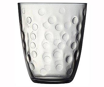 Luminarc Vaso de cristal gris con relieve decorativo de 0,31 litros, LUMINARC. 0,31 litros