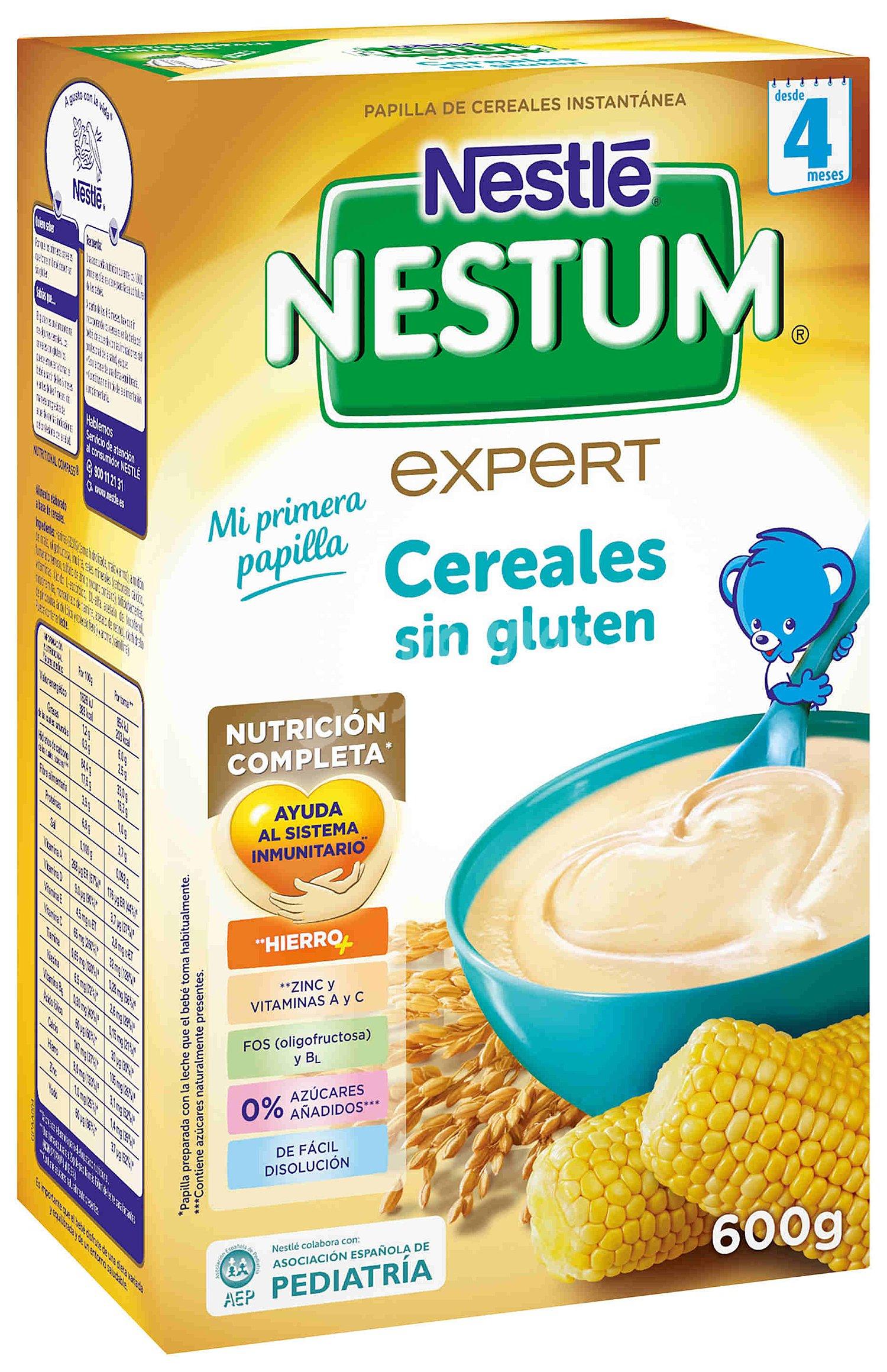 Nestum nestl papilla de cereales sin gluten a partir de 4 meses 600 gr - Cereales sin gluten bebe 3 meses ...