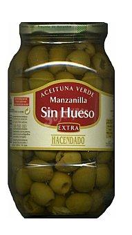 Hacendado Aceituna manzanilla sin hueso Tarro 835 g, escurrido 400 g