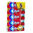 Chicle grageas sabor fresa Pack 5 x 10 unidades (50 grageas) Orbit