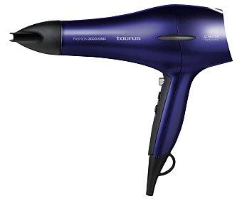 TAURUS Fashion 3000 Ionic Secador de pelo 2200W, 2 velocidades, 3 temperaturas, motor AC.