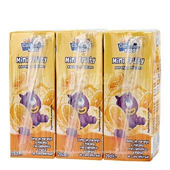 Carrefour Kids Zumo de naranja y plátano Pack 3x20 cl