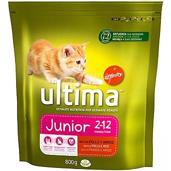 AFFINITY ULTIMA JUNIOR Rico en pollo y arroz para gatos de 1 a 12 meses bolsa 800 g Bolsa 800 g