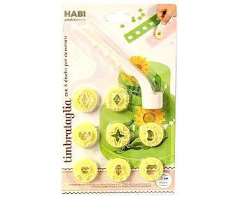 HABI Corta galletas con 8 discos de diferentes formas 1 unidad