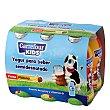 Yogur semidesnatado líquido de fresa y plátano Pack de 6 unidades de 100 g Carrefour Kids