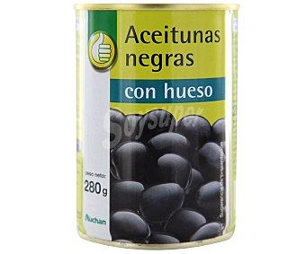 Productos Económicos Alcampo Aceitunas negras con hueso Lata de 150 g