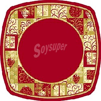 Papstar plato cartón angular Christmas Symbols 26x26 cm  paquete 8 unidad