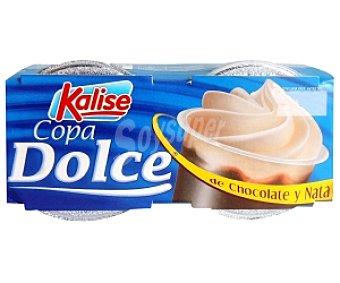 Kalise Copa Dolce de chocolate con nata 2 Unidades de 100 Gramos