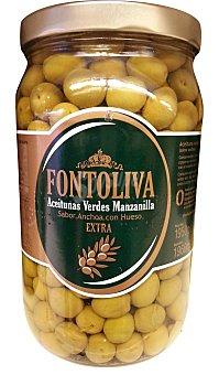 Fontoliva Aceituna manzanilla con hueso sabor anchoa Tarro 1950 g escurrido