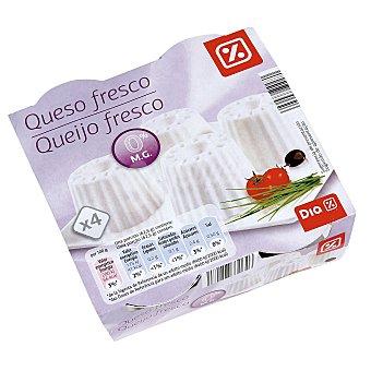 DIA Queso fresco 0% Envase pack 4x62.5 g