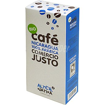 Alternativa 3 Café natural molido ecológico de Nicaragua Estuche 250 g