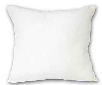 Auchan Cojín de loneta liso color blanco crudo con cremallera, 53x53 centímetros 1 unidad