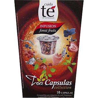 CUIDA TÉ té frutas del bosque 10 cápsulas estuche 30 g compatibles con máquinas de café Nespresso 10 c