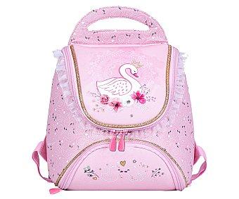 Alcampo Mochila de iniciación al colegio de color rosa con cisne, auchan Baby