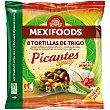 Tortillas de trigo para fajitas Picantes Spicy con Jalapeños 8 ud 320 g Mexifoods