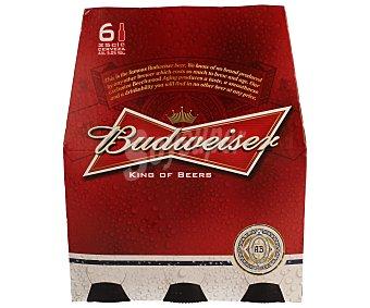 Budweiser Cerveza americana 6 botellines de 25 cl