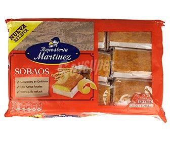 Martinez Sobaos elaborados con mantequilla natural y huevos locales, en envases individuales 27 uds. x 490 g