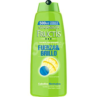 Fructis Garnier champú fortificante Fuerza & Brillo con esencia de Pomelo para cabello normal  frasco 500 ml