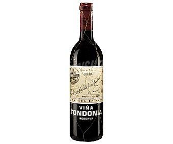 Viña Tondonia Vino tinto reserva con denominación de origen Rioja Botella de 75 cl