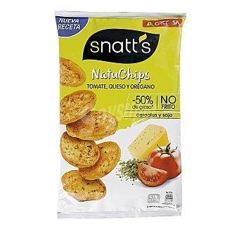 Snatt's Grefusa Natuchips tomate, queso y orégano a base de cereales, patata y soja 100% naturales Envase 85 g
