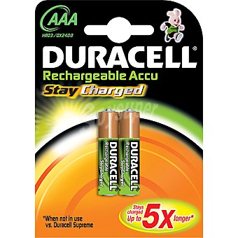 Duracell Pila recargable Active Charge AAA (hr03 dx2400) blister 2 unidades 2 unidades