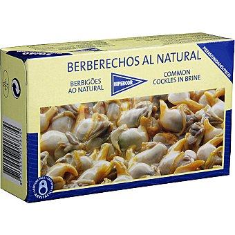 Hipercor Berberechos de Holanda al natural 30-40 piezas Lata 63 g neto escurrido