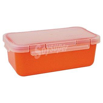 Valira Hermético rectangular de plástico en color naranja 1 unidad
