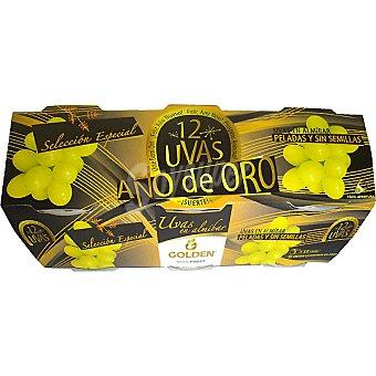 GOLDEN 12 uvas Año de Oro en almíbar peladas y sin semillas pack 3 latas 130 g neto escurrido Pack 3 latas 130 g