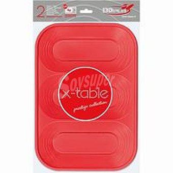 Nupik 2 Bandejas 3 comp rojo Pack 1 unid