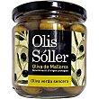 Aceitunas verdes con hueso D.O.P. Mallorca Envase 200 g neto escurrido Olis soller