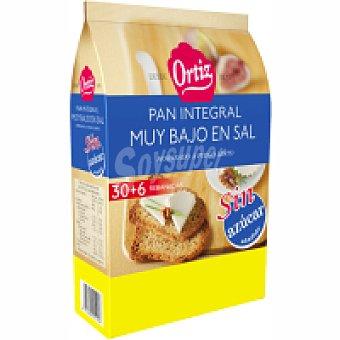 Ortiz Pan tostado integral sin sal y sin azúcar Paquete 270 g