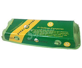 Pitas Huevos camperos frescos clase M-L y categoria A 12 uds