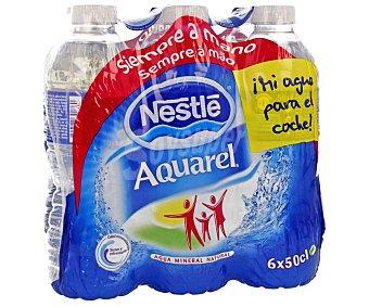 Aquarel Nestlé Agua mineral 6 unidades de 50cl