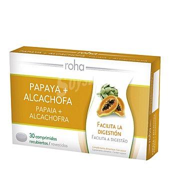 ROHA Complemento alimenticio de Papaya + Alcachofa 30 cápsulas