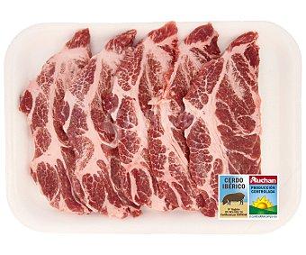 Auchan Producción Controlada Filetes de aguja de cerdo ibérico fresco 500 Gramos