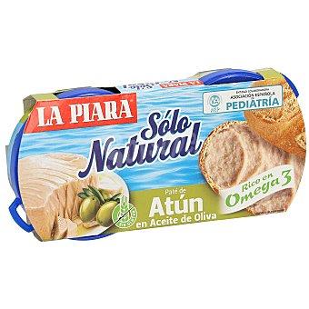 La Piara Sólo Natural Paté de atún en aceite de oliva Pack 2 latas x 75 g