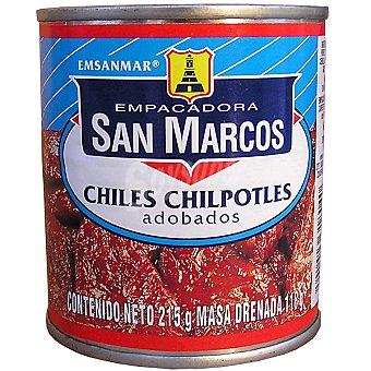 SAN MARCOS Chiles chilpotles adobados Lata 118 g neto escurrido
