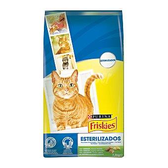 Purina Friskies Pienso completo para gatos adultos esterilizados con pavo y verduras Bolsa 7,5 kg