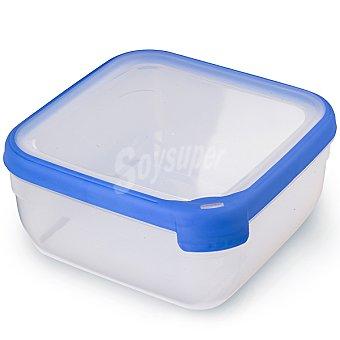 Curver Hermético rectangular tapa transparente y azul 2,5 l 2,5 l